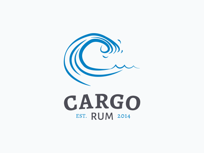 Cargo Rum Concept 2 logo branding identity illustration rum wave sea