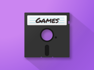 Games Disk Icon floppy disk figma games disk retro icon illustration