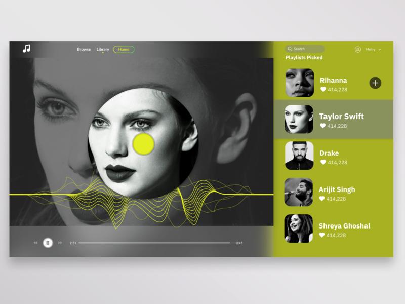 Music Web Concept