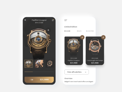 Shop Watches online -  App Concept product page design product page uxdesign uidesign typography uxui uiux freelancer watchapp watches creative application app design branding designer app illustration ux ui design