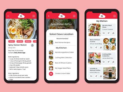 Cloud Kitchen Mobile kitchen cloud app cloud food and drink food app food meals cooking recipe minimal app ux design uxdesign ux design
