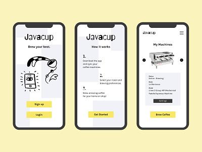 Javacup: Mobile Preview mobile application product espresso machine espresso coffee shop coffee designs mobile app design mobile design product design mobile app mobile app design minimal app ux design uxdesign ux design