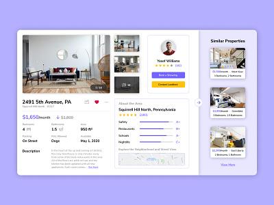 Rent Space: Property Page webdesign website landlord rental app rental application app design website design web web design product design app ux design ux uxdesign design
