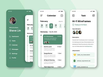 Task Management Mobile UI task management task manager mobile design mobile app mobile ui mobile ux  ui webdesign web design minimal product design app ux design uxdesign ux design