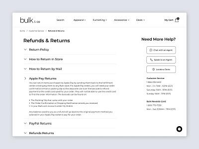 Return Page - Bulk & Co ecommerce shop ecommerce design ecommerce ui design ui ux  ui web website design webdesign web design product design ux design uxdesign design uxui ux