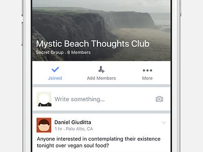 Groups Inline Composer facebook groups