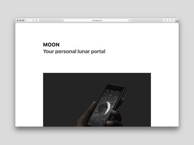 New website for MOON web moon