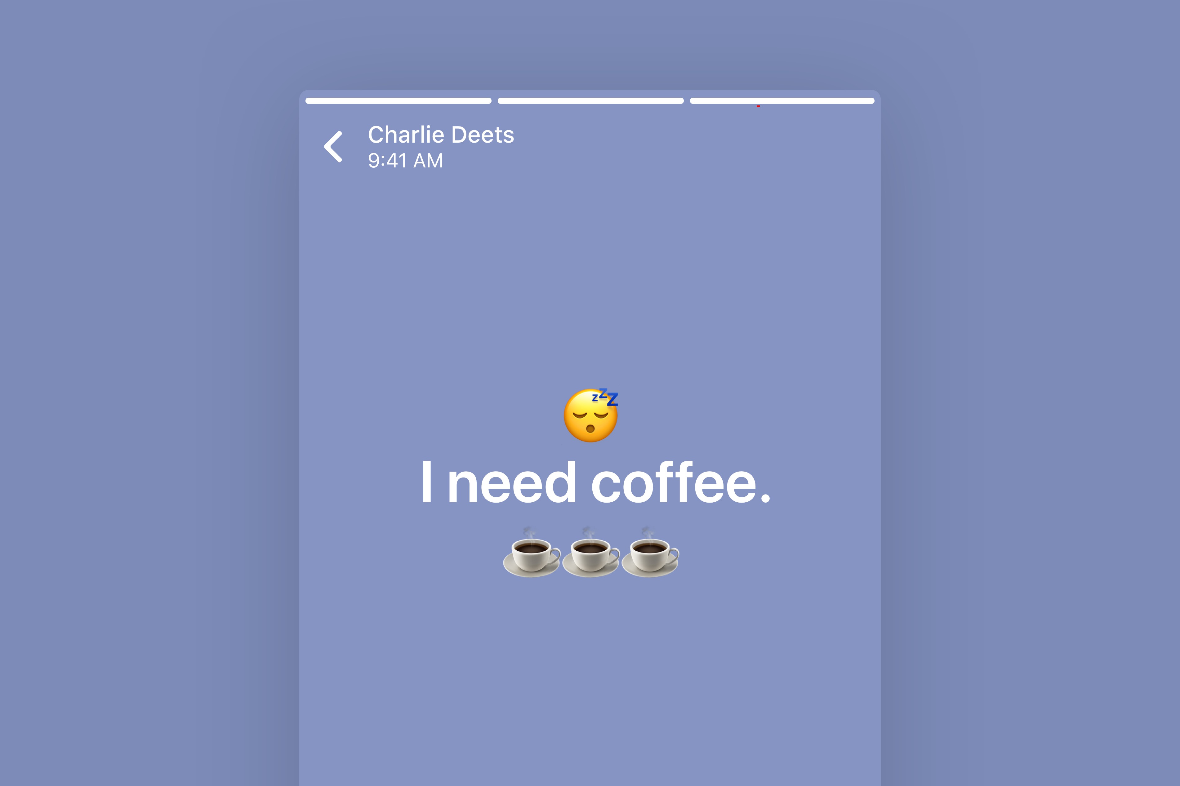 WhatsApp Text Status by Charlie Deets on Dribbble