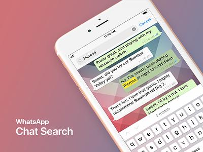 WhatsApp Chat Search for iOS search whatsapp