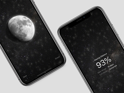 MOON for iPhone X iphone x ios moon