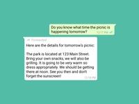 WhatsApp Forwarded Message whatsapp