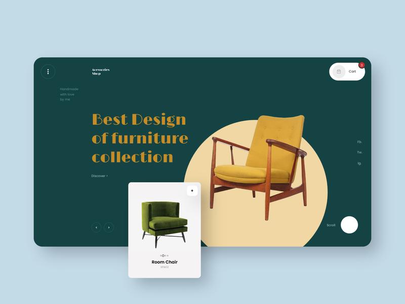 Furniture Shop web ux ui