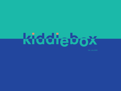 KIDDIEBOX EST 01 typography illustrator design app