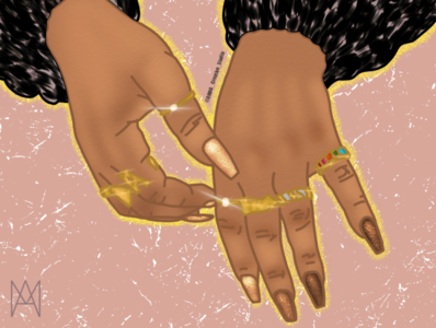Eloquence rings nails hands illustration digital art nycdesigner graphicdesign graphic