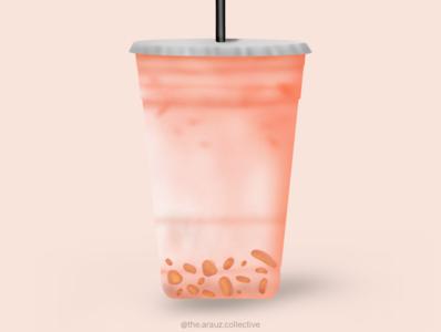 Boba Tea boba tea bubble tea tea boba digital art illustration graphic design
