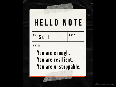 Note to Self self love note to self note wallpaper digital art illustration graphic design