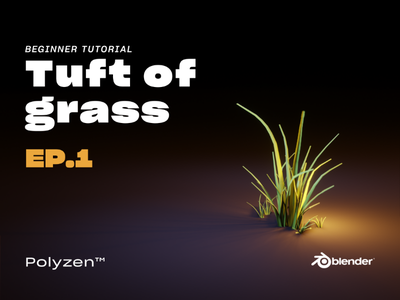 Lowpoly Tuft of Grass   Ep.1   Tutorial Video mood 3dartist 3d 3ddesign polyzen illustration lighting b3d 3dart blender3d blender design tuftofgrass grass lowpolyart lowpoly