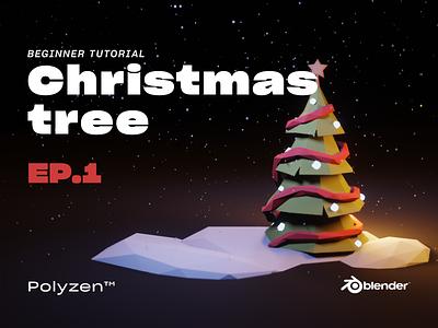 Lowpoly Christmas Tree | Ep 01 | Blender 2.90 | Beginner Tuts lowpolytree tree christmasttree christmas isometric blender3dart lowpoly3d blender3d blender lowpolyart lowpoly lighting illustration design
