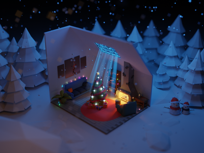 Christmas 2020 tutorial diorama snowman jinglebell christmas isometric design isometric illustration isometricart isometric blender3dart lowpoly3d blender3d blender lowpolyart lowpoly lighting illustration design