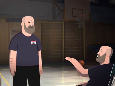"Kyle Kinane's ""Trampoline in a Ditch"" Album Trailer (2D) motion animation cel animation illustration cel design adobe 2d animatipn comedy character animation tvpaint meisterhq"