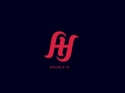 Double H  logo crown typography grafox branding smoking cigarette h design