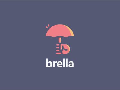 Brella - Dating App umbrella logo umbrella dating logo dating app dating illustration logodlc logodesign logo dailylogochallenge