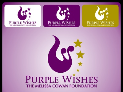 Purple Wishes stars wish union swan logo embrace family swan vector typography taylored