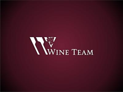 WineTeam illustration design branding logo vector grapes bottles grape leaf wine bottle wine