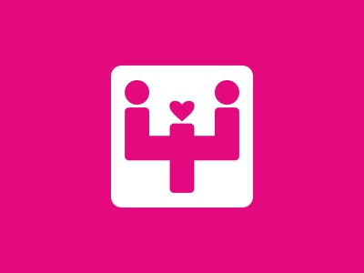 Family Therapy - Reinventing relationships psyche psychology pink logo heart love pink vector discussion table relation therapy family psy
