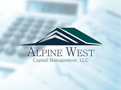 Alpine West - Capitan Management, LLC app house home roof mountain design branding vector strong management capital logo alpine