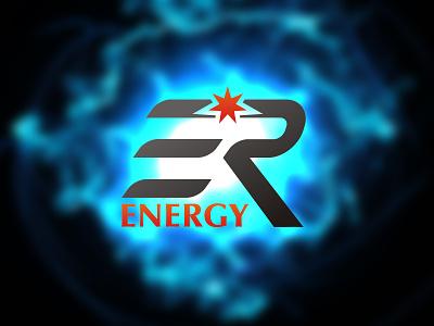 ER Energy design logo branding vector energy logo ligthning fluid design star sparkles energy