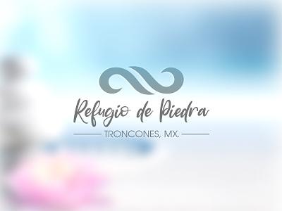 Refugio de Piedra - Beach House design branding logo vector zentangle rocks troncones mexico ixtapa paradise sublime relax yoga infinite beach zen