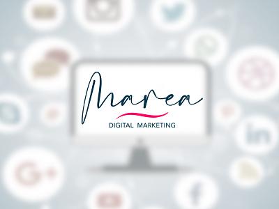 Marea - Digital marketing seo social media design social network socialmedia vectors design wave logo digital marketing