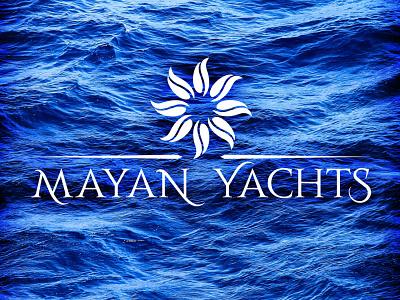 MAYAN YACHTS compass luxury branding logo vector caribbean yachts sailboat