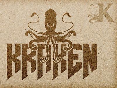 KRAKEN -  SEAFOOD designs octopus logo tag design brading scary fear mexico combi logo vector foodtruck seamonster octopus squid kraken