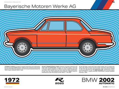 BMW 2002 (2020) bmw automobile poster illustration vector branding typography design
