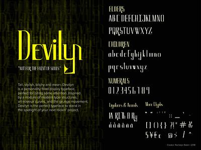 Devilyn: Type Design