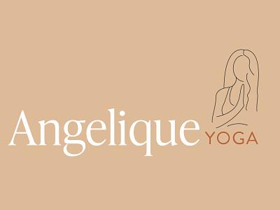 Logo Design for Angelique Yoga vector minimalist icons design branding icon logo flat illustration