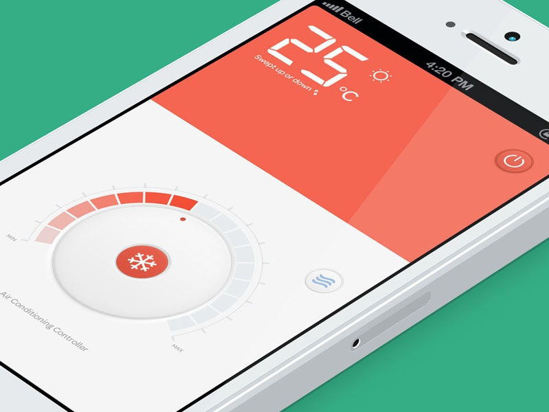 Air conditioning controller ui kingyo temperature intelligent home control system air