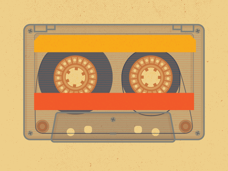 Mixtape: Dirrrty mixtape music cassette retro texture illustration