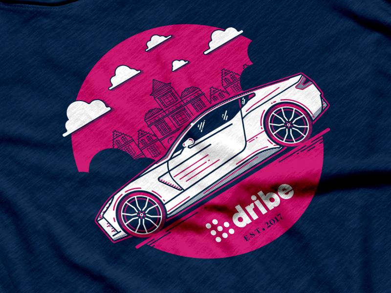 Dribe Shirt shirt denmark cars vector branding illustration