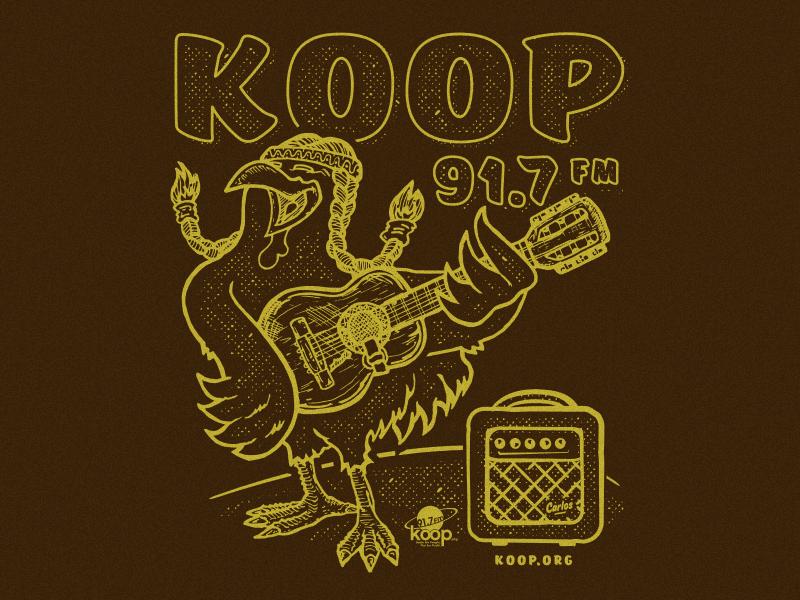 KOOP Shirt retro texture shirt drawing nonprofit ink illustration