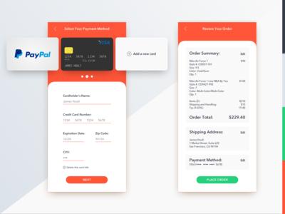 DailyUI 002 Credit Cart Checkout