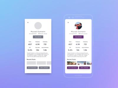DailyUI 006 User Profile