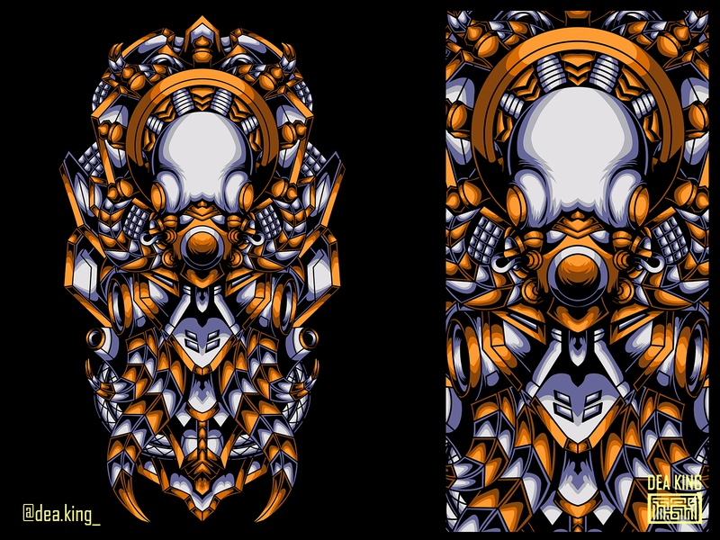 THE-MECH OCTOPUS octopus animal apparel mecha vector tshirtdesign tshirt illustration design