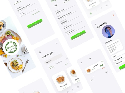 Food delivery app trendy design food trend app branding logo icon design ux ui