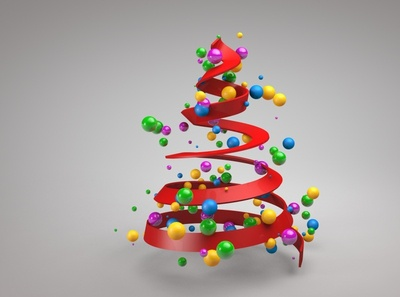 cinema 4d christmas tree motion graphic cg material product animation motiongraphics advertising cgi 3d animation 3d modeling mograph cinema 4d