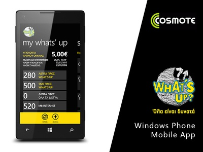 What's Up for Windows Phone mobile app whats up windows phone cosmote wp