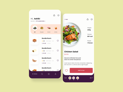 Food App UI Concept ecommerce online shop mobile ui app design mobile app app ui illustration uiux ui design app uidesign minimal design branding logo motion graphics graphic design 3d animation ui