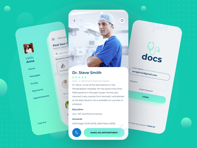 Doctor Appointment App ui design neuphorimism calculator app design app design madicle clinic pharmacy appointment doctor